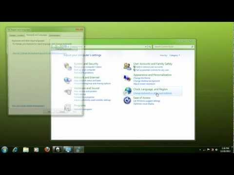How to add Language on Windows 7