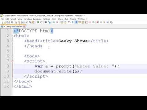prompt method Getting input from user in JavaScript (Hindi)