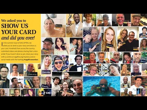 SAG-AFTRA MEMBERS, SHOW US YOUR CARD