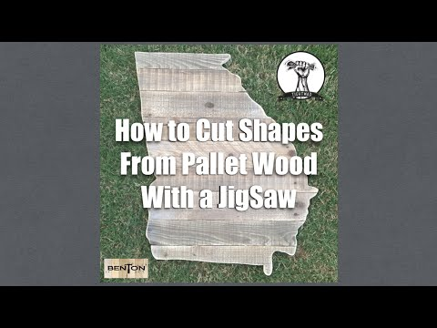 How To Cut a State From Pallet Wood