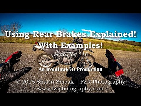 Using Rear Brakes Explained! - With Examples! | MotoVlog 110