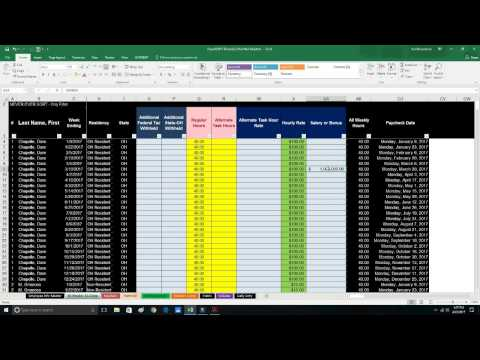 How to File Quarterly Form 941 - Payroll in Excel 2017
