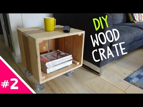 DIY Reclaimed Wood Crate Table - Part 2 of 2