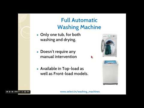 Semi automatic washing machine vs fully automatic washing machine