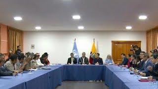 Diálogo entre el Gobierno de Ecuador y los movimientos indígenas