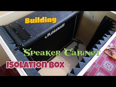 Building Speaker Cabinet Isolation Box for Marshall 2x12