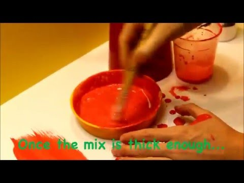 How to mix powder paint with PVA glue