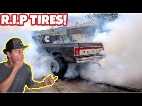 CUMMINS DESTROYS TIRES FROM CRAZY BURNOUT!