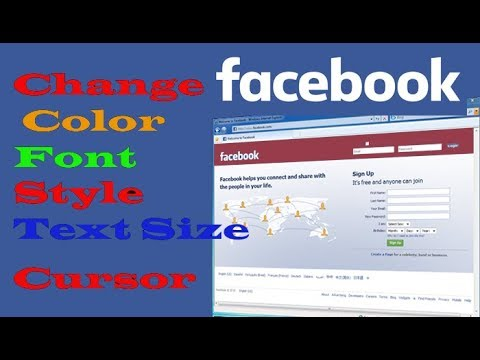 Change Facebook Background,Font,Text Size and Colour
