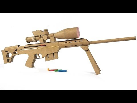How To Make Cardboard Sniper That Sh00ts -  With Magazine