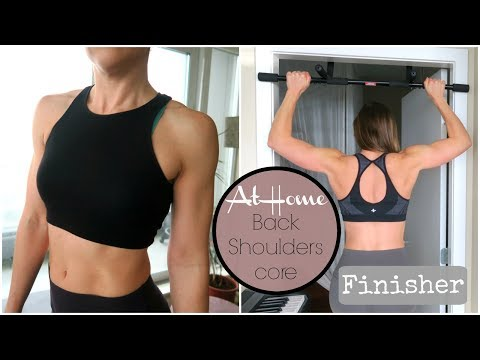 Train your Back and Shoulders at Home // HIIT Finisher