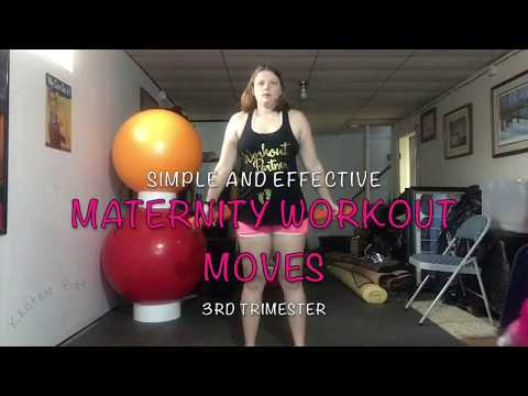 Simple and Effective 3rd Trimester Maternity Pregnancy Workout Moves 6/8