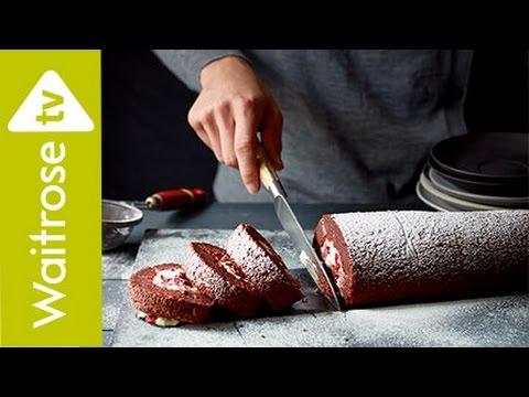 Beetroot and Dark Chocolate Yule Log | Waitrose