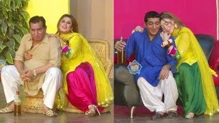 Zafri Khan and Nasir Chinyoti with Khushboo Stage Drama Guddi Udaie Jaa Comedy Clip 2019