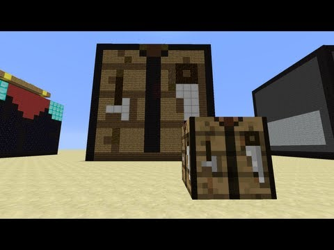 Minecraft Mega Blocks -- Ep 1: Crafting Table, Hopper and Dispenser
