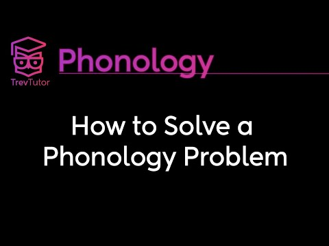 [Phonology] How to Solve a Phonology Problem