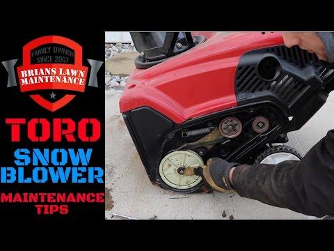 Toro Snow Blower Maintenance (Belt/Oil/Paddles) 2016