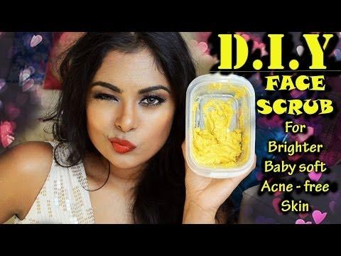 DIY Face Scrub -Natural home remedy for pimples, blackheads, acne scars, dark spots, remove sun tan