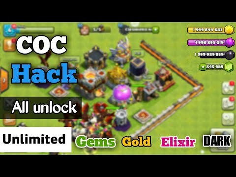 COC Unlimited Gems,golds,elixirs and darks | clash of clan mod version all unlock (2017)