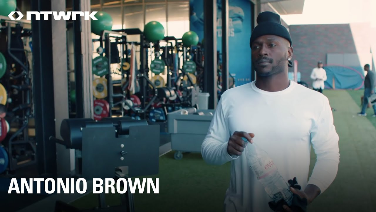 From the kitchen to the gym to the field to the beach, follow a day in the life of Antonio Brown