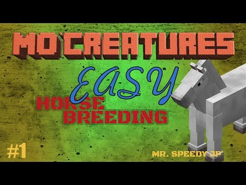 Mo'Creatures EASY HORSE BREEDING Guide!!!! 1.8 MINECRAFT