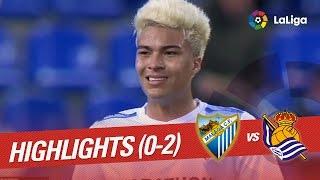 Resumen de Málaga CF vs Real Sociedad (0-2)