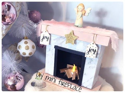 GLAM CHRISTMAS HOME DECOR -DIY MINI CHRISTMAS MARBLE FIREPLACE