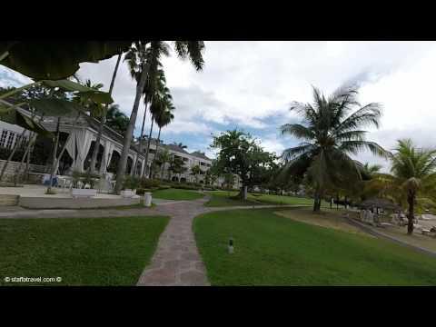 Walking around Couples Sans Souci All-Inclusive Resort in Jamaica
