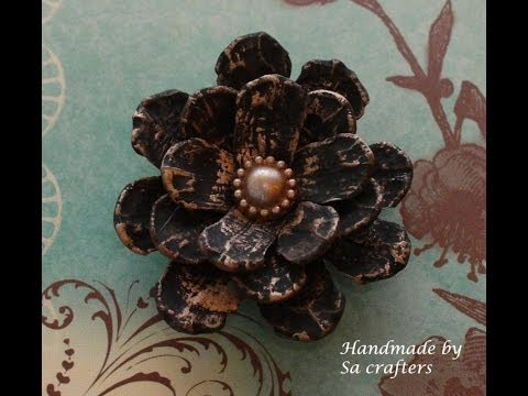 DIY:Easy to make Pine Cones flower tutorial by SaCrafters