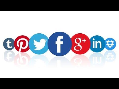 Sticky social media bar