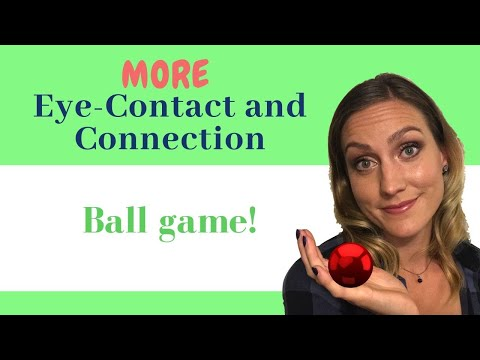Speech Therapy for Toddlers - How to Teach Toddlers to Talk and Socialize using Games Rolling a Ball
