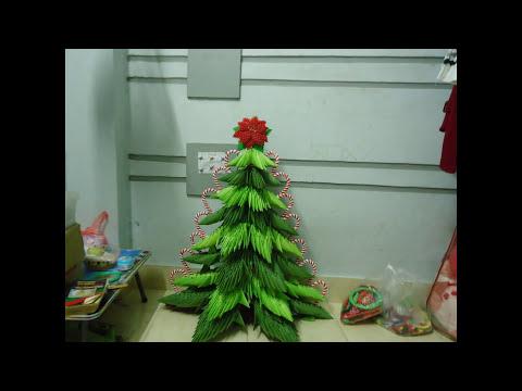 Big Christmas Tree 3D Origami  by Đào Ngân