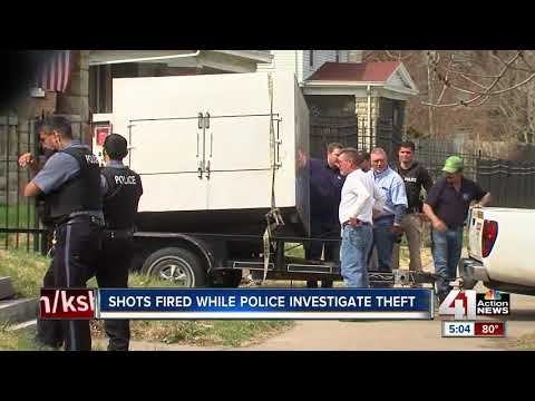 Shots fired while police investigate theft