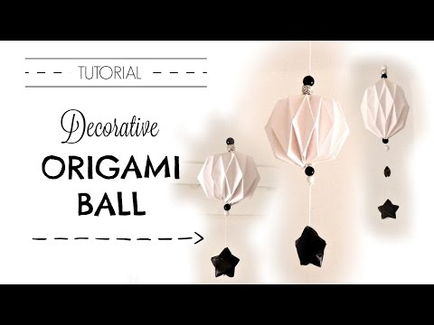 EASY ORIGAMI BALL DIY TUTORIAL