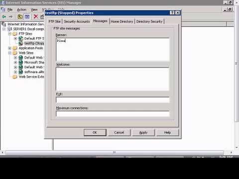 Setup banner for FTP users in Windows IIS