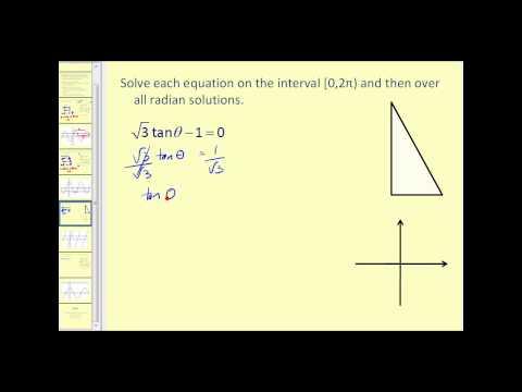 Solving Trigonometric Equations I