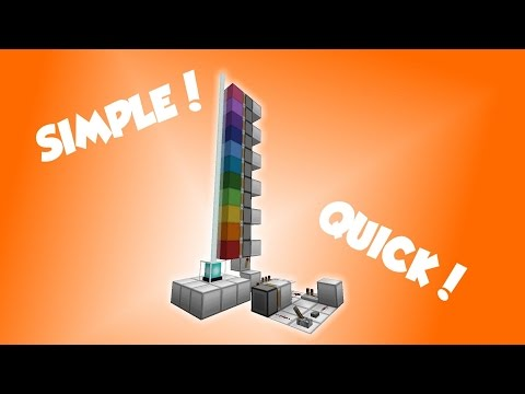 Rainbow Beacon 2.0 in Minecraft | Tutorial #4