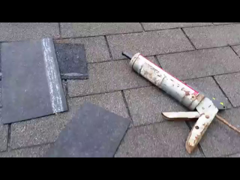 How to quickly replace a single tab shingle that the wind has broken off And why you should do it.