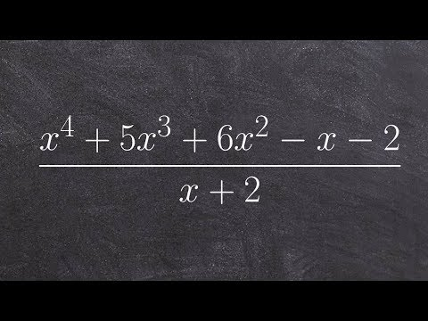 Dividing a fourth degree polynomial by a binomial using long division