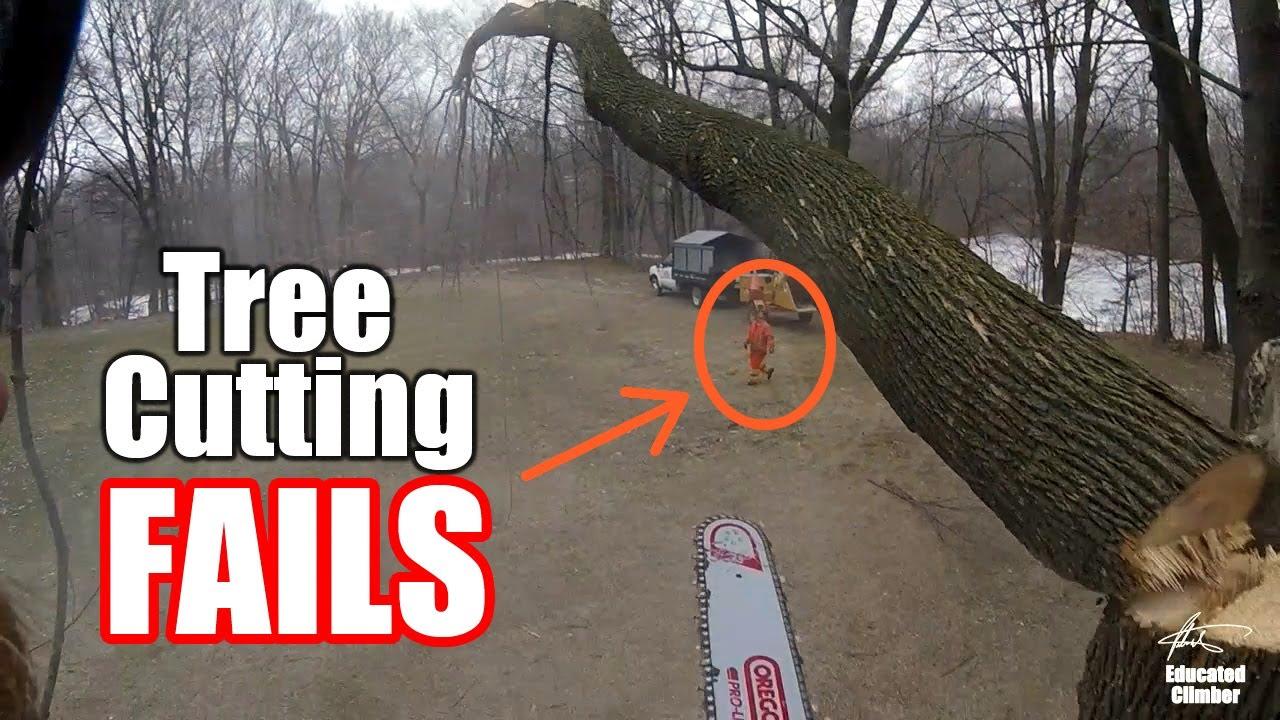 Tree Cutting FAILS, close calls, and near misses...