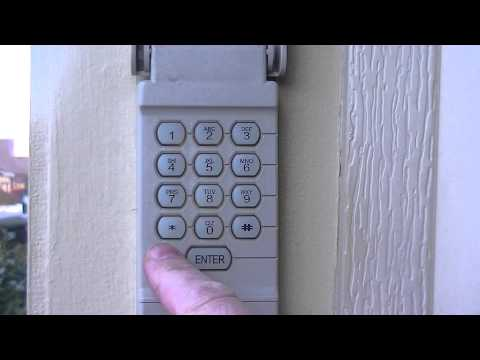 How to set a temporary pin for your garage door opener keypad