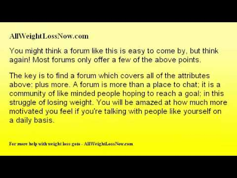 Proven Benefits of a Weight Loss Forum