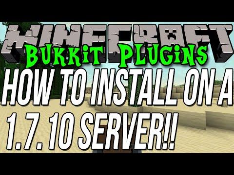 How To Install Plugins On A Minecraft 1.7.10 Bukkit Server