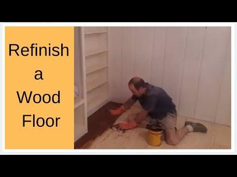 Refinish a wood floor