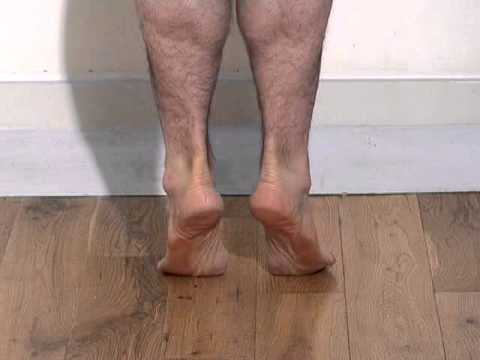 Effective dynamic tibialis posterior (calf raise with inversion) exercise