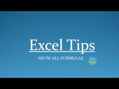 How To Use Show All Formulae In Excel