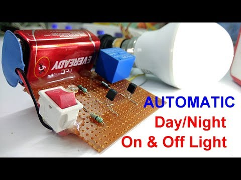 Automatic Light Day/Night Off & On Light Sensor  || AUTO STREET LIGHT ||