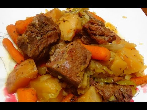 Roast Beef Cooked in Instant Pot Pressure Cooker With Loads of Veggies and Spices