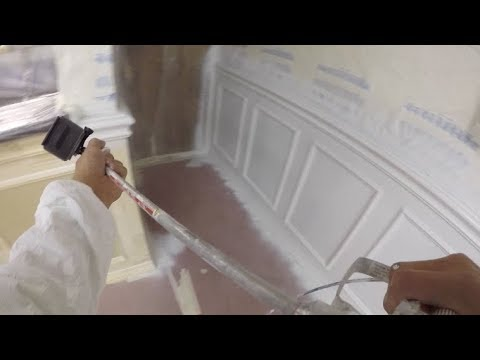 Finished! Spraying the Wainscot