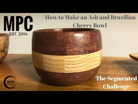 How to Make an Ash and Brazilian Cherry Bowl (Segmented Challenge)